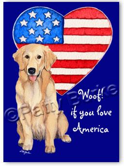 Heartfelt Impressions Patriotic Dogs Garden Flag By Patty Burke